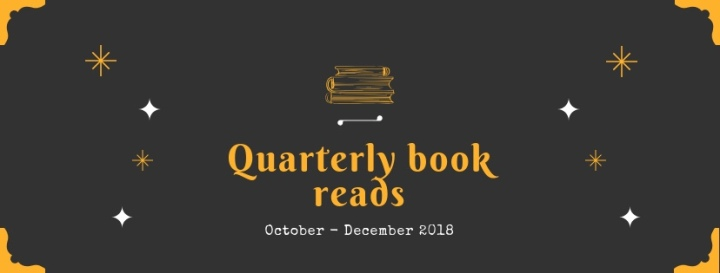 The books I read October – December (2018)